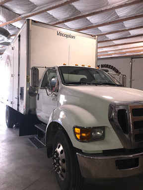2013 vecoplan shorty with security grinder on ford 650/w cummins engine,  nonn-cdl  service records are available  2